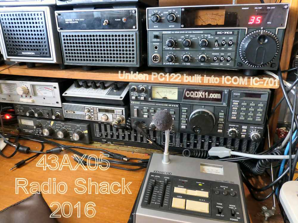 AX05-Shack-2016-01-Uniden-PC-122 into Icom IC-701